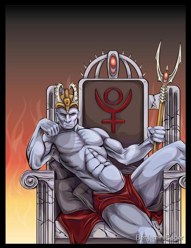 Hades Enthroned by Benjamin Bader