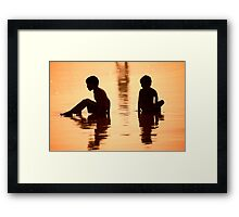 Sundown by the Bay of Bengal II Framed Print