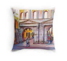 Porta Borsari Verona Throw Pillow