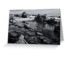 Black and White Rocks Greeting Card