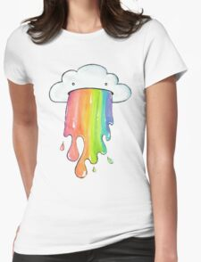 cute rainbow cloud  Womens Fitted T-Shirt