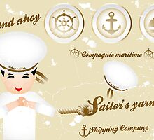Vintage nautical design elements and sailor by schtroumpf2510
