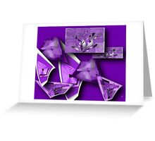 Collage in Purple Greeting Card