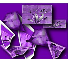 Collage in Purple Photographic Print