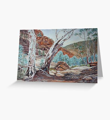 Weetootla Gorge, Gamon Ranges, Flinders Ranges Greeting Card