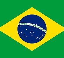 Brazil World Cup Flag - Brazilian T-Shirt by deanworld