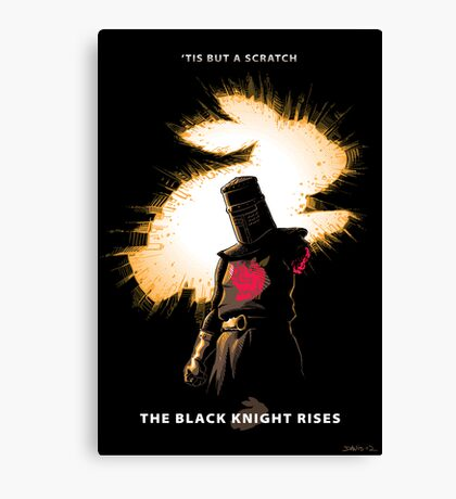 The Black Knight Rises Canvas Print