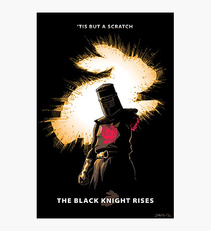 The Black Knight Rises Photographic Print