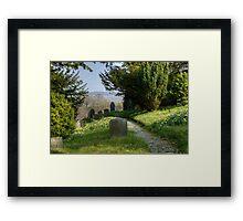 The Graveyard In Spring Framed Print