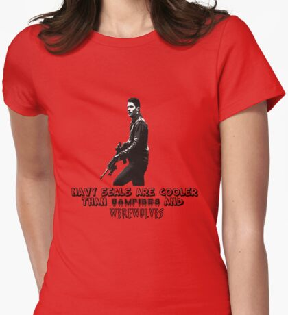 Navy Seals are cooler Womens Fitted T-Shirt