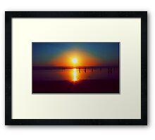 Golden Sunshine Surf and Sand Framed Print