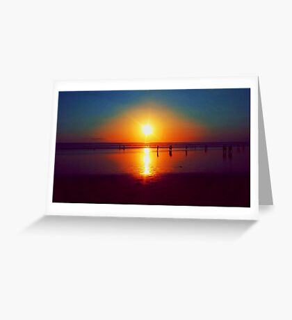 Golden Sunshine Surf and Sand Greeting Card