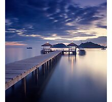 Pier at twilight Photographic Print
