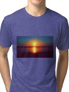 Golden Sunshine Surf and Sand Tri-blend T-Shirt