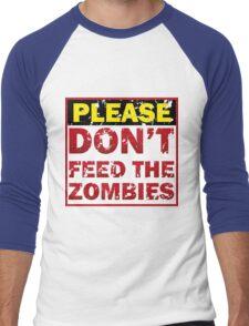Don't feed zombies Men's Baseball ¾ T-Shirt