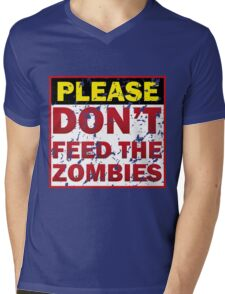 Don't feed zombies Mens V-Neck T-Shirt