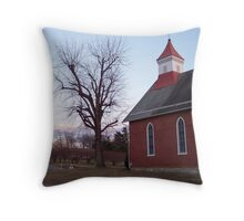 Church In The Orchards Throw Pillow