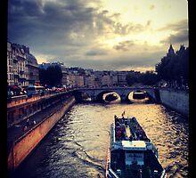 Sunset on The Seine by Sara Friedman