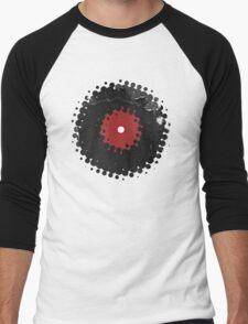 Grunge Vinyl Records Retro Vintage 50's Style T-Shirt! Men's Baseball ¾ T-Shirt