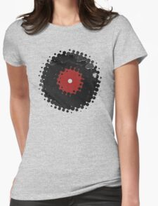 Grunge Vinyl Records Retro Vintage 50's Style T-Shirt! Womens Fitted T-Shirt