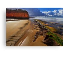Low tide - Anglesea Canvas Print