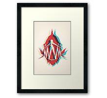 Piranha Girl Framed Print