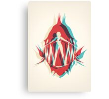 Piranha Girl Canvas Print