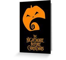 The Nightmare Before Christmas Greeting Card