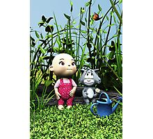 BabyToon - Discoveries in the garden Photographic Print