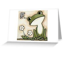F is for Frog Greeting Card