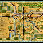 São Paulo City Metropolitan Transportation Map (Print Version) by Rodrigo Marckezini