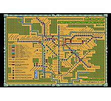 São Paulo City Metropolitan Transportation Map (Print Version) Photographic Print