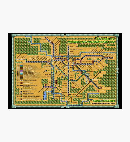 São Paulo City Metropolitan Transportation Map (Print Version) Photographic Print