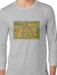 São Paulo City Metropolitan Transportation Map Long Sleeve T-Shirt