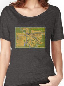 São Paulo City Metropolitan Transportation Map Women's Relaxed Fit T-Shirt