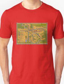 São Paulo City Metropolitan Transportation Map T-Shirt
