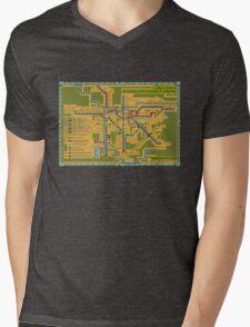 São Paulo City Metropolitan Transportation Map Mens V-Neck T-Shirt