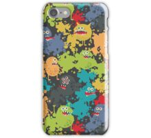 Monsters in paint. iPhone Case/Skin