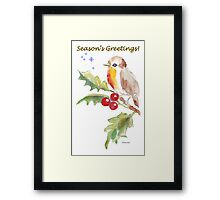 Season's Greetings! 1 Little bird (1) Framed Print