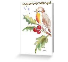 Season's Greetings! 1 Little bird (1) Greeting Card