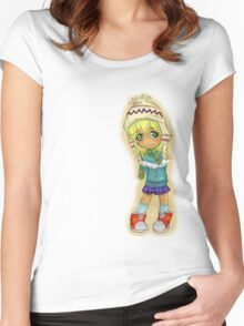 Cute Chibi Women's Fitted Scoop T-Shirt