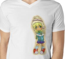 Cute Chibi Mens V-Neck T-Shirt