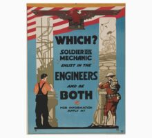 Which Soldier or mechanic enlist in the engineers and be both One Piece - Long Sleeve