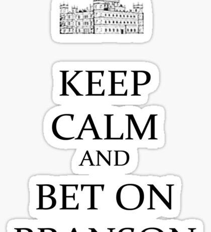 bet on Branson (black) Sticker