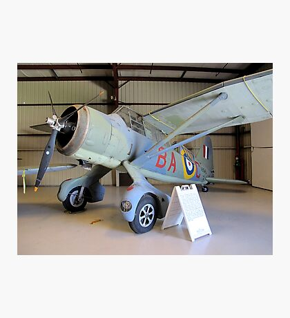 Port Side View - Canadian Lysander Aircraft Photographic Print