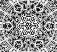 Mandala 47 Black and White T-Shirts & Hoodies Sticker