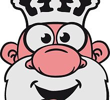 King funny comic happy naughty face by Style-O-Mat