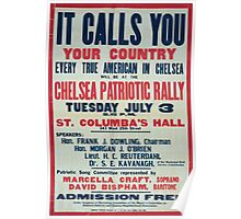 It calls you Your countryChelsea patriotic rally 002 Poster