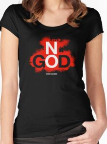 NO GOD Women's Fitted Scoop T-Shirt