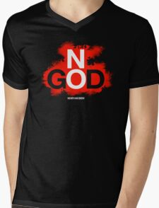NO GOD Mens V-Neck T-Shirt
